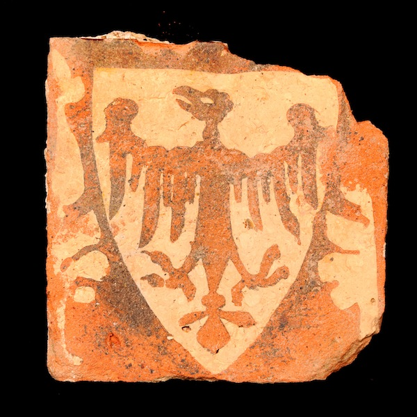 Medieval floor tile from the friary