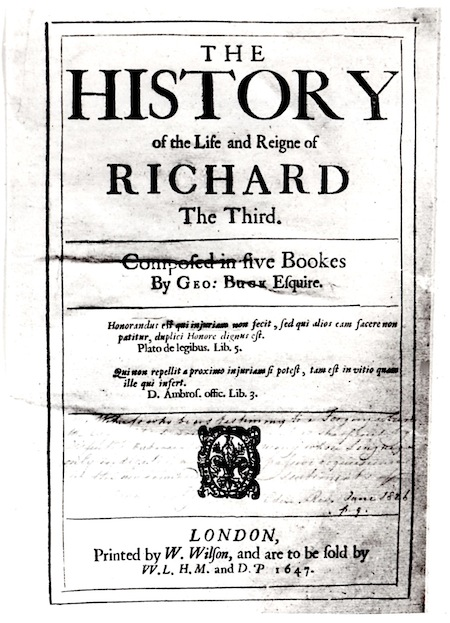 Title page from Buck's History