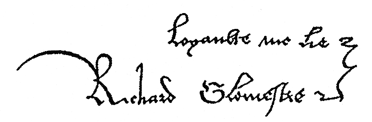 Signature with motto of King Richard
