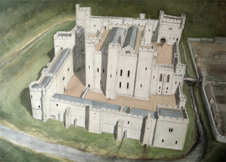 Middleham Castle by Geoffrey Wheeler